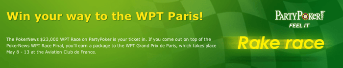 Get  Free at PartyPoker - Win Your Way to the WPT Grand Prix de Paris 101