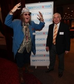 A crazy and out of touch ageing TV gambling 'expert' poses with John McCririck