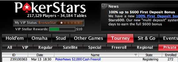 ,000 Cash Freerolls Exclusivos para Jogadores PokerNews na PokerStars 101