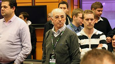 Michel Dhrey, 'railbird' attentif de la finale