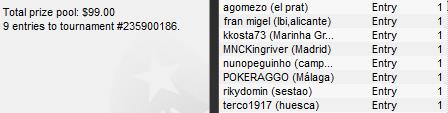 "IBERIAN POKER LEAGUE de PokerStars: ""MNCKingRiver"", ganador del torneo del Lunes 15 de Marzo 102"