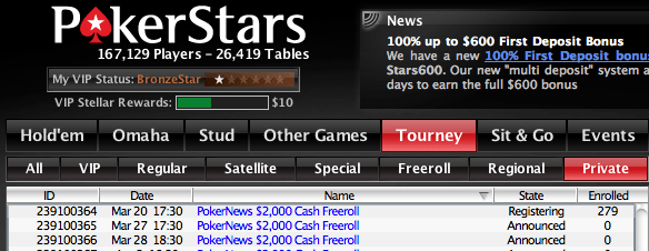 Exclusivos para Jogadores PokerNews - ,000 Cash Freerolls na PokerStars 101