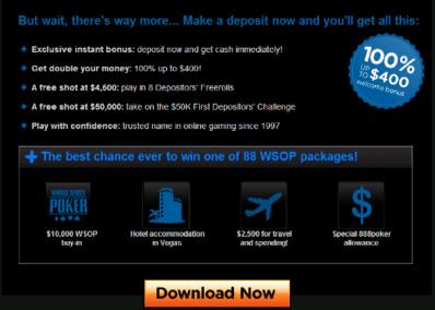 在888 Poker 你有8种方法参加WSOP! 101