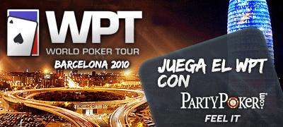 El WPT de Barcelona te espera... ¡Abre ya tu cuenta en PartyPoker!
