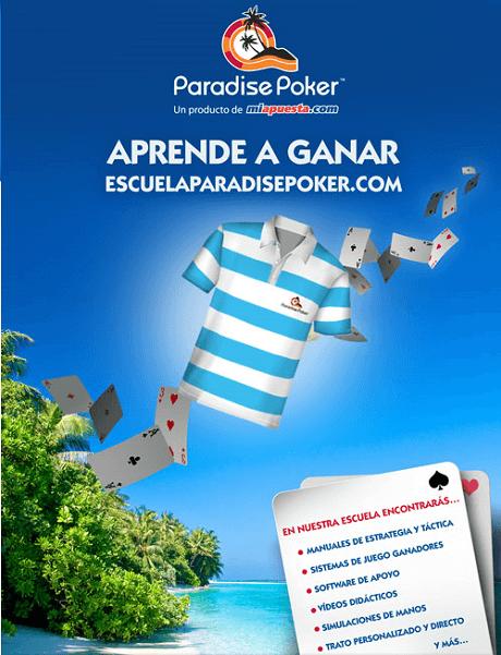 La Escuela Paradise Poker ofrecer freerolls con premios increíbles en Abril 101