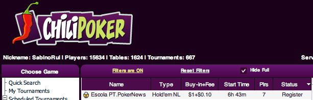 Liga PT.PokerNews - Hoje às 21:30 Joga-se o Segundo Torneio 101