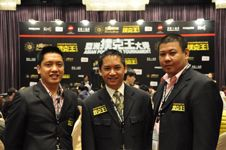 Tournament Director Lloyd Fontillas (Center) with Assistant Tournament Directors Mico Rilloraza (L) and Raymund Gamier (R)