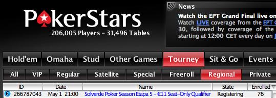 Torneio de qualificação online para a 5ª etapa do Solverde Season joga-se hoje na... 101