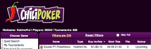 Liga PT.PokerNews - VI Etapa a partir das 21:30 na ChiliPoker 101