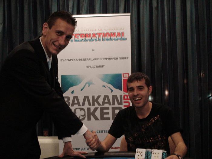 Шампионът (вдясно) от BPT Събитие №4