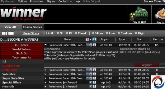 PokerNews Super ,000 na Winner Poker 101