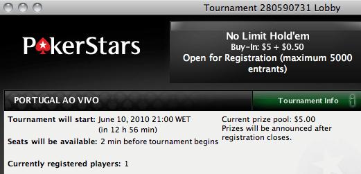 Portugal ao Vivo - Hoje às 21:00 na PokerStars 101