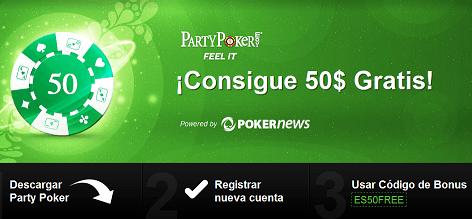 """Un mundo de promociones en Party Poker: 50$ gratis, """"Drive the Dream"""", y más 103"""