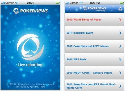 PokerNews пусна iPhone приложение за Директни Репортажи 101