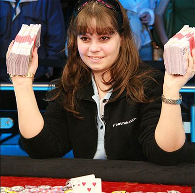 Annette Obrestad po výhře £1,000,000 na WSOPE