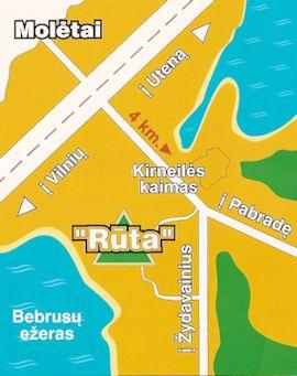 """""""Rūtos"""" žemėlapis"""