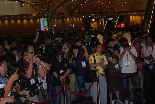 许多媒体都出席现场。