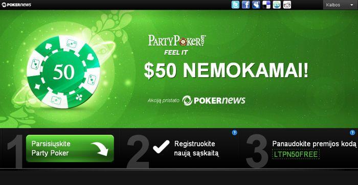 """PartyPoker savaitė: """"Pokerio Šou"""" sugrįžimas, Rolando De Wolfe įspūdžiai ir... 102"""