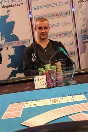 Sky Poker Tour Winner Rob Shiell