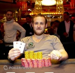 WSOPE vinner Scott Shelley, England