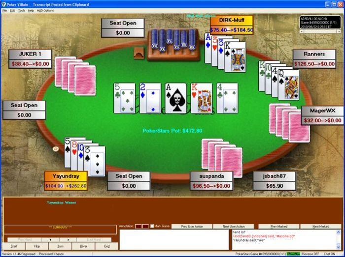 tbvle спечели ,140 в 50-милиардната ръка на PokerStars 101