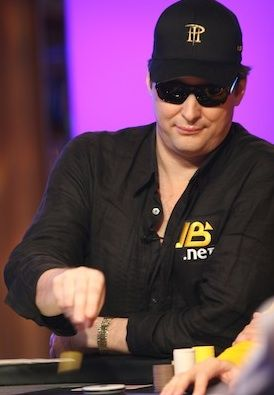 Phil Hellmuth, arguably more of an attention seeker than Viktor Blom.