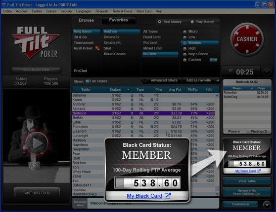 Full Tilt Poker представи Black Card 101