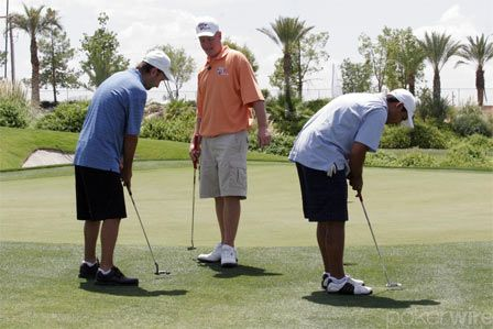 Даниел Негреану и Ерик Линдгрен на голф игрището