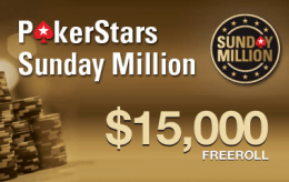 $15K PokerNews Sunday Million Freeroll