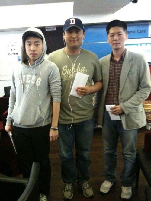 박인식(가운데), 박상우(왼쪽), 김형준(오른쪽)