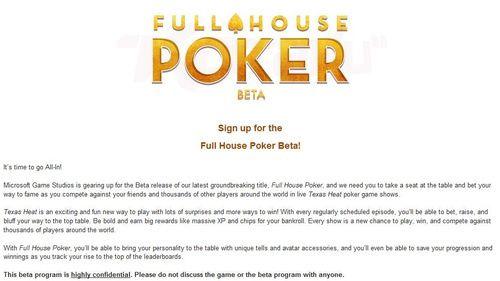 Microsoft бета-тества Xbox Live покер игра 101