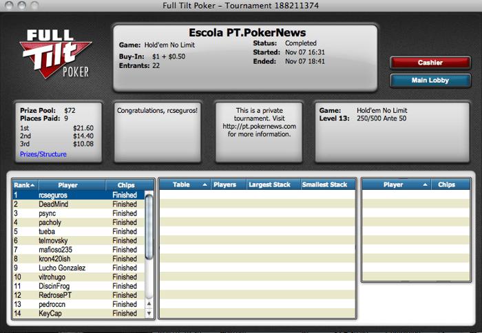 Liga PT.PokerNews - Rui Carvalho Termina na Frente 101