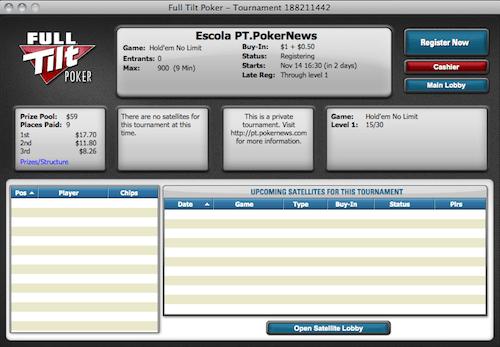 Hoje às 21:30 Liga PT.PokerNews na Full Tilt Poker 101
