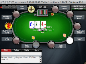 PokerStars Torneio $5,20 Double or Nothing