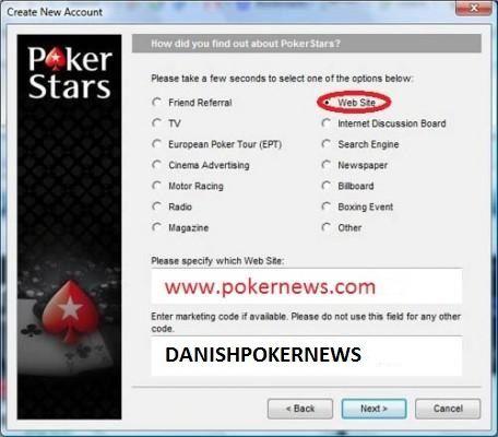 Husk at benytte vores kampagnekode DANISHPOKERNEWS når du opretter dig for at kunne deltage i denne freeroll samt fremtidige Club Pokernews kampagner