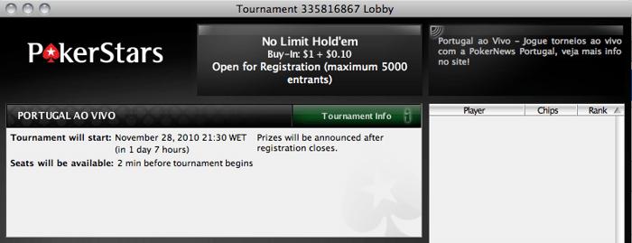 Portugal ao Vivo - Hoje às 21:30 Joga-se na PokerStars 102