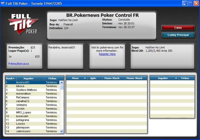 Leonardo Diniz Vence o PokerNews & Poker Controls Freeroll e Conquista o seu Wireless Poker... 101