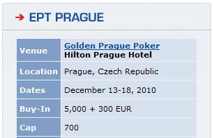 EPT Prague: 13 - 18 декември 101