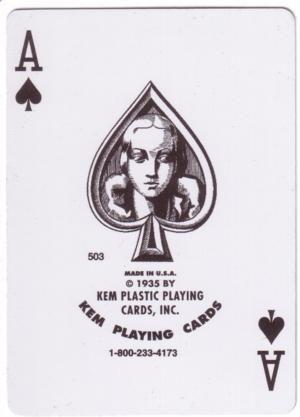 KEM kortų kaladės tūzas