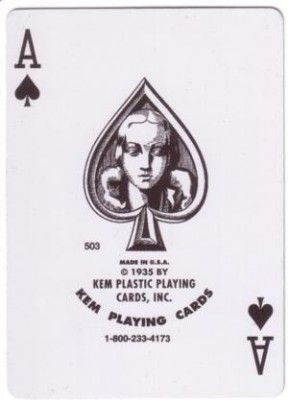 Ace from a deck of KEM cards