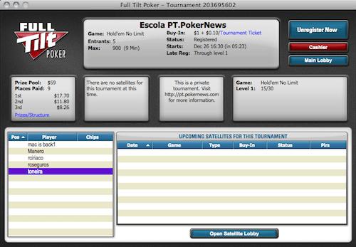 Hoje Às 21:30 Final Liga PT.PokerNews na Full Tilt Poker 101