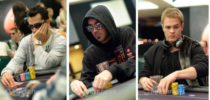 Den 2 nepřežili Antonio Esfandiari, Jason Mercier a Andrew Robl (zleva)