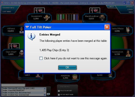 И така, в един Full Tilt турнир, много пъти! 105