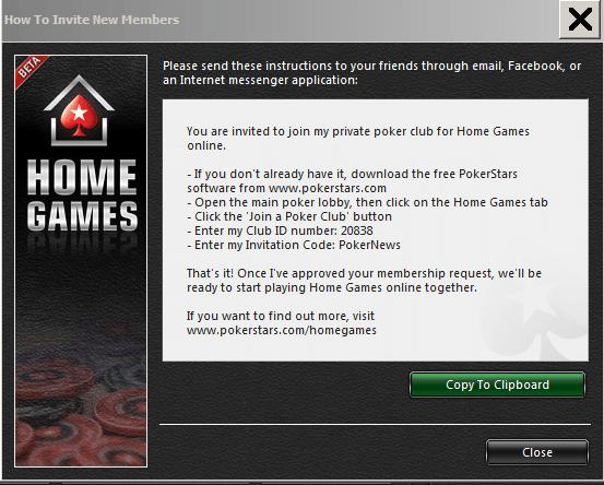 PokerNews pamācība PokerStar mājas spēļu uzstādīšanai 104