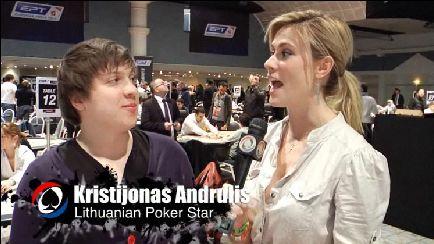 Pokerio video: Globalūs PokerNews kalbina Kristijoną Andrulį - apie EPT Dovilį, Lietuvą... 101