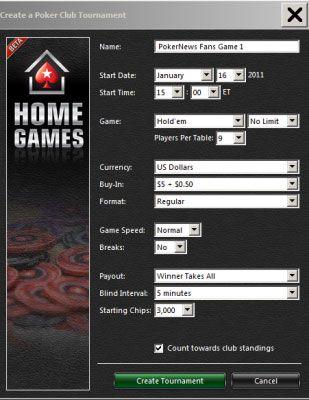 PokerNika VODIČ za postavku Vaše privatne PokerStars Kućne Igre 105