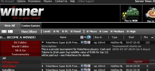 PokerNika/pokernews Super k Winner Poker Freeroll 101