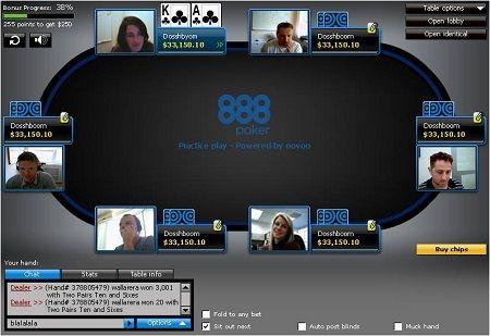888 Poker lansirao PokerCam stolove 101
