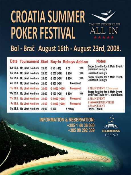 Croatia summer poker festival 2008 ! ! ! 101