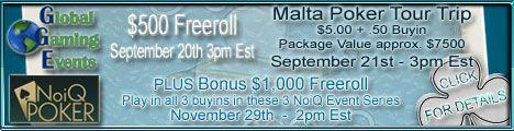 Igrajte za PokerNika.com i osvojite paket za Malta Poker Tour 101